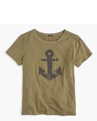 J.Crew Embellished Anchor T Shirt