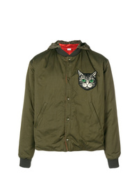 Gucci Cat Embroidered Bomber Jacket