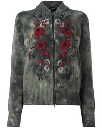 Avant Toi Roses Embroidered Cardigan