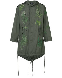 Creatures of the Wind Army Embroidered Parka