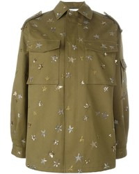 Valentino Star Embroidered Shirt Jacket