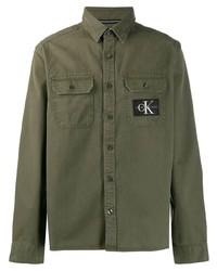Calvin Klein Jeans Logo Patch Utility Shirt
