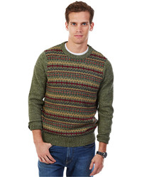 Cargo green fair isle sweater medium 365763