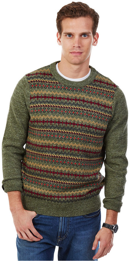 Nautica Cargo Green Fair Isle Sweater | Where to buy & how to wear