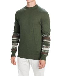 Fair isle cotton cashmere sweater medium 362890