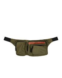 DSQUARED2 Green Nylon Military Bum Bag