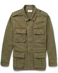 Saint Laurent Cotton And Linen Blend Field Jacket