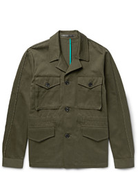 Paul Smith Cotton And Linen Blend Twill Field Jacket