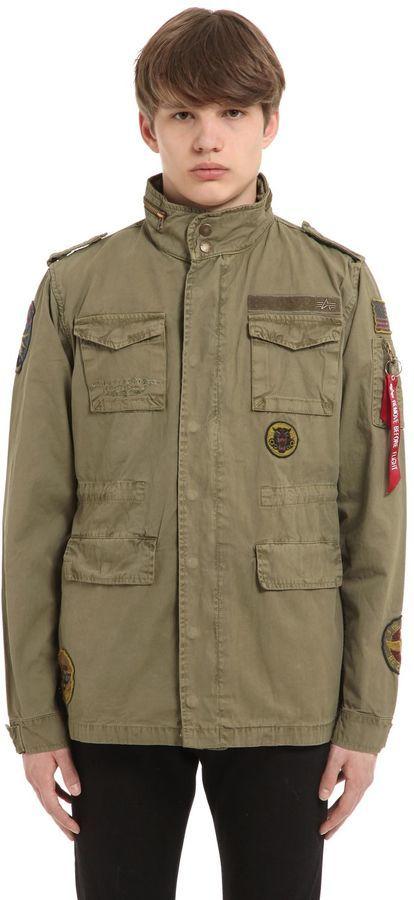 6a40784fc78d Alpha Industries Huntington Patch Twill Field Jacket, $125 ...