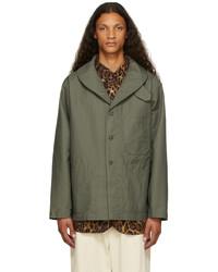 Engineered Garments Khaki Cotton Shawl Neck Jacket