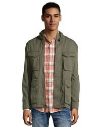 Andrew Marc Marc New York Khaki Cotton Edison Zip Front Field Coat