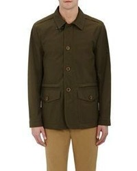 Fay Tech Fabric Field Jacket Dark Green