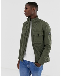 Tom Tailor Washed Utility Jacket In Green