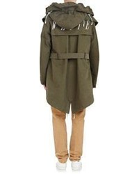 Off White Co Virgil Abloh Hooded Parka Vest Combo Green | Where to ...