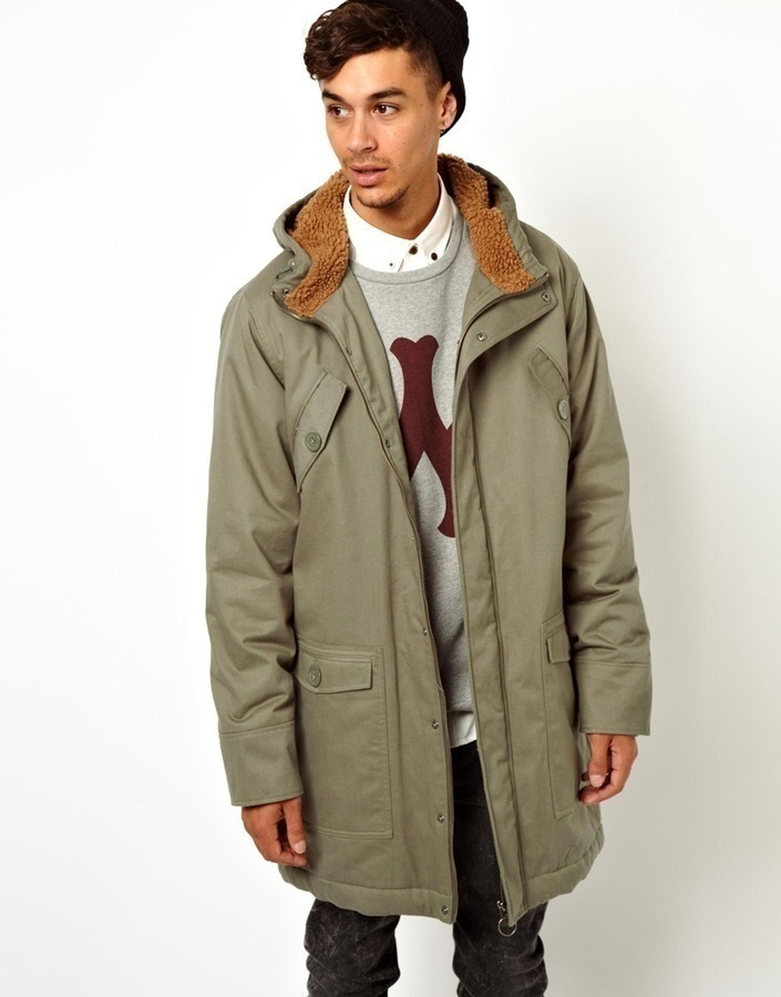 Wesc Parka Coat Bength With Hood Green | Where to buy & how to wear