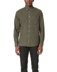 Olive Flannel Long Sleeve Shirt