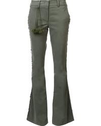 Olive Flare Pants