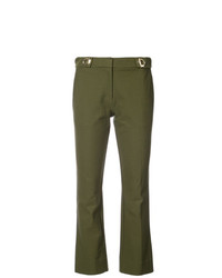 Derek Lam 10 Crosby Cropped Flare Trouser With Grommet Detail