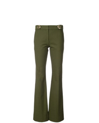 Derek Lam 10 Crosby Flare Trouser With Grommet Detail