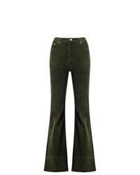Amapô High Waist Velvet Flared Trousers