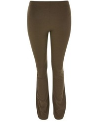 Topshop Skinny Rib Flared Trousers