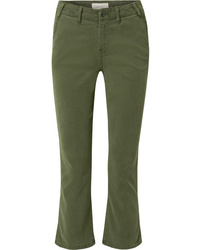The Great The Trouser Nerd Cropped Flared Twill Pants