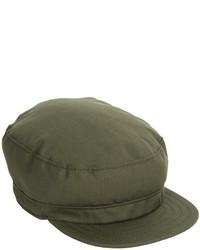 Olive Flat Cap