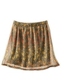 Shahi Apparel Pvt. Ltd. Mossimo Supply Co Juniors Chiffon Crinkle Skirt Green Print M