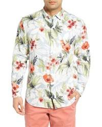 Tommy Bahama Mediterranean Floral Standard Fit Linen Sport Shirt