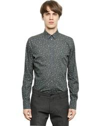 Dolce & Gabbana Floral Print Stretch Cotton Poplin Shirt