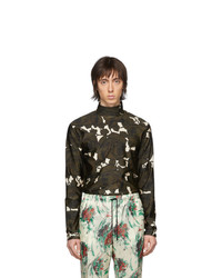 Olive Floral Long Sleeve T-Shirt