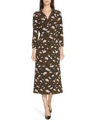 BOSS Higena Print Midi Dress