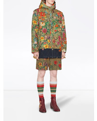 87c13e1a Gucci New Flora Snake Print Quilted Parka, $3,324 | farfetch.com ...