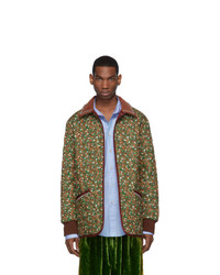 Gucci Green And Orange Flower Chateau Marmont Jacket