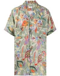 Etro Floral Print Short Sleeve Shirt