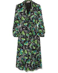 Diane von Furstenberg Phoenix Floral Print Tte Wrap Dress
