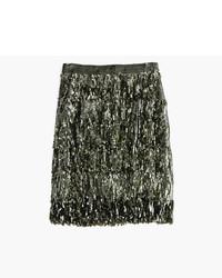 J.Crew Collection Sequin Fringe Skirt