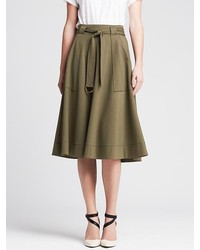 Banana republic heritage belted ponte midi skirt medium 155954
