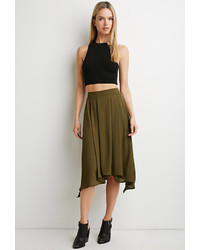 Forever 21 Contemporary Pleated Asymmetrical Skirt