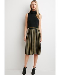 Forever 21 Contemporary Striped Midi Skirt