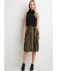 Forever 21 Contemporary Striped Midi Skirt