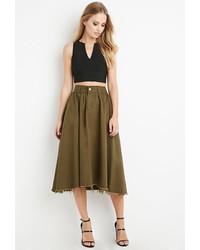 Forever 21 Frayed Midi Skirt