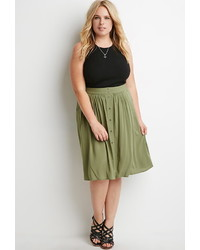 Forever 21 Plus Size Buttoned A Line Skirt