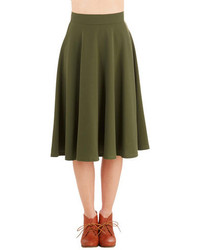Rock Steadysteady Clothing In Bugle Joy Skirt In Olive