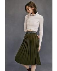 Silence & Noise Silence Noise Silky Pleated Midi Skirt