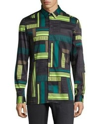 Versace Collection Tetris Frame Casual Button Down Shirt