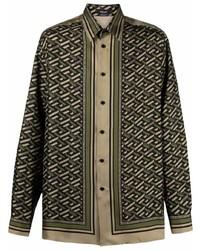 Versace Collection Geometric Print Shirt