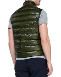 f374edcdfca2 Moncler Gui Lightweight Puffer Vest Olive