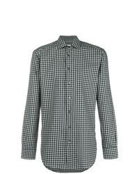 Olive Gingham Long Sleeve Shirt