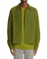 The Elder Statesman Cobra Wool Cashmere Blend Zip Jacket